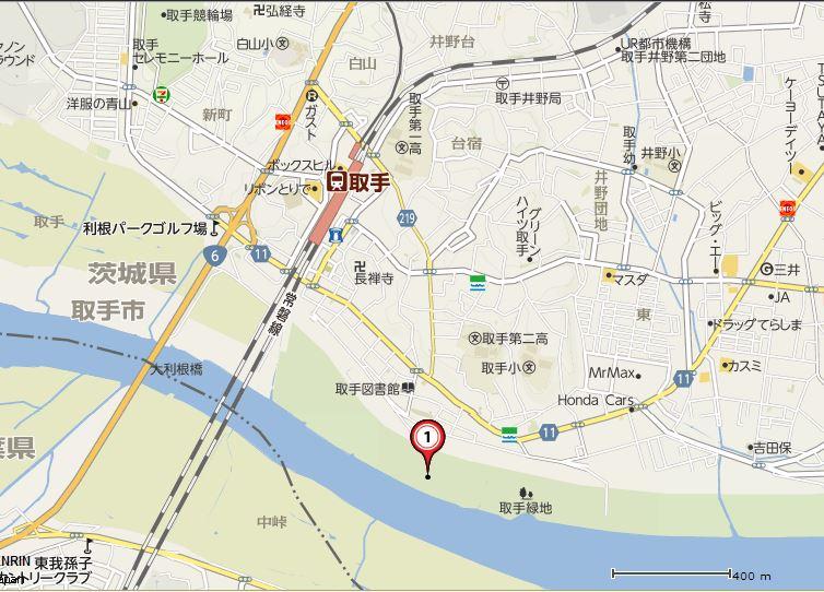 とりて利根川花火大会 地図