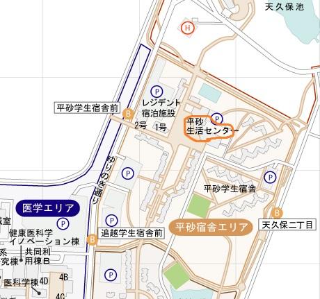 平砂エリアマップ