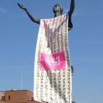 あのAKBと筑波大学がコラボ!?AKB48第5回2013年総選挙を告知する学内の銅像!