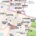 筑波大学マップ 体芸食堂マップ