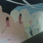 [筑波大生必見!]平砂宿舎近くの平砂トンネルの壁画ビフォーアフター!T-ACTによって新しい壁画が完成!!