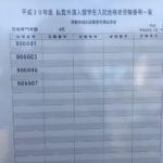 筑波大学前期試験合格発表:私費外国人留学生【全学群掲載】(2018年3月7日発表)